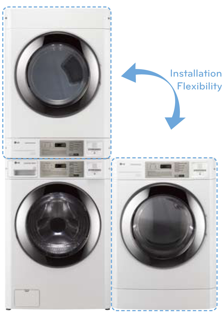 stackable washer and dryer set up